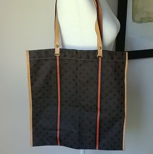 Cole Haan tote bag leather and canvas